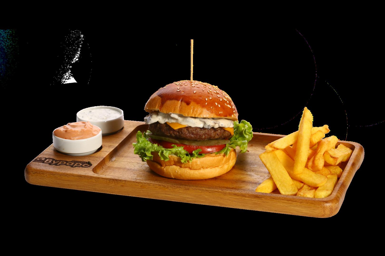 Beef Mushroom Burger